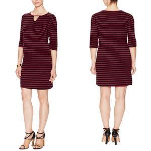 Maternal America Wine Stripes Keyhole Dress Small
